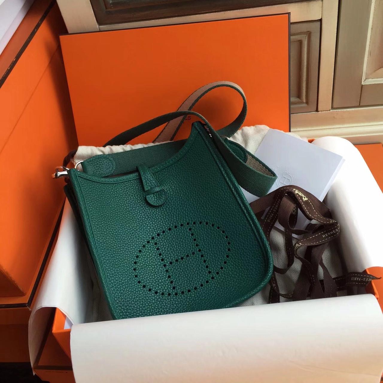 Hermès Evelyne Mini Bag TPM Dark Green - Bella Vita Moda 0b7acadda