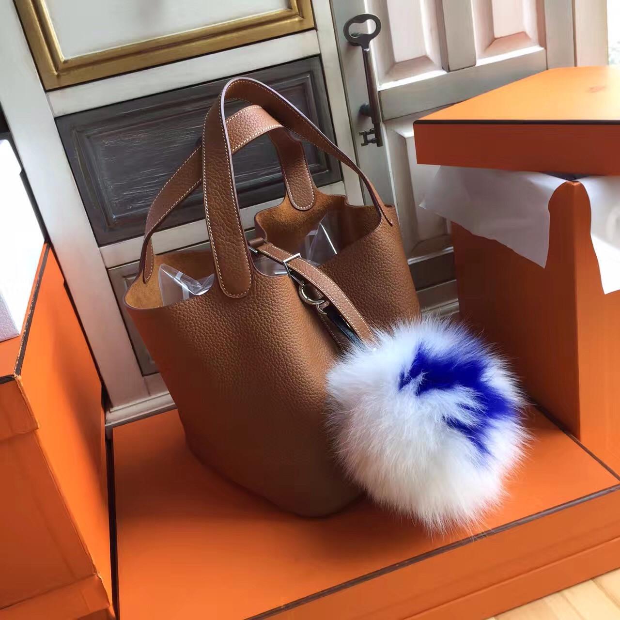 443053daa29a Hermes Gold Picotin Lock MM Togo Leather Bag - Bella Vita Moda