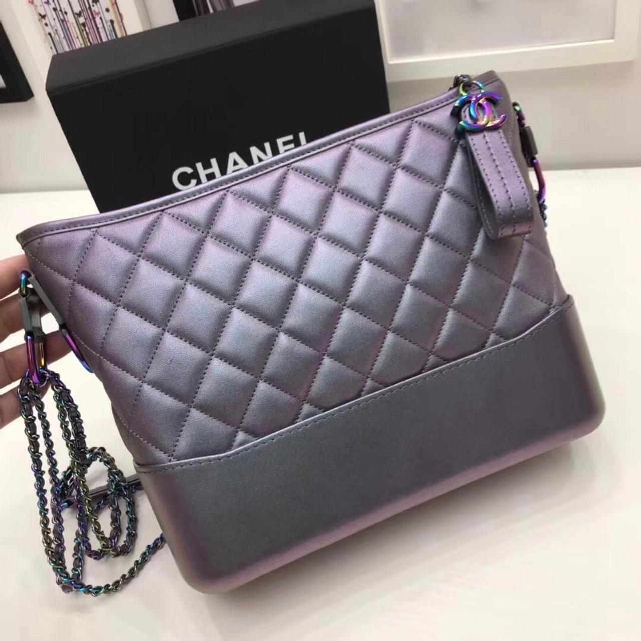 609c1ffa0cf Chanel Gabrielle Purple Iridescent Hobo Bag - Bella Vita Moda