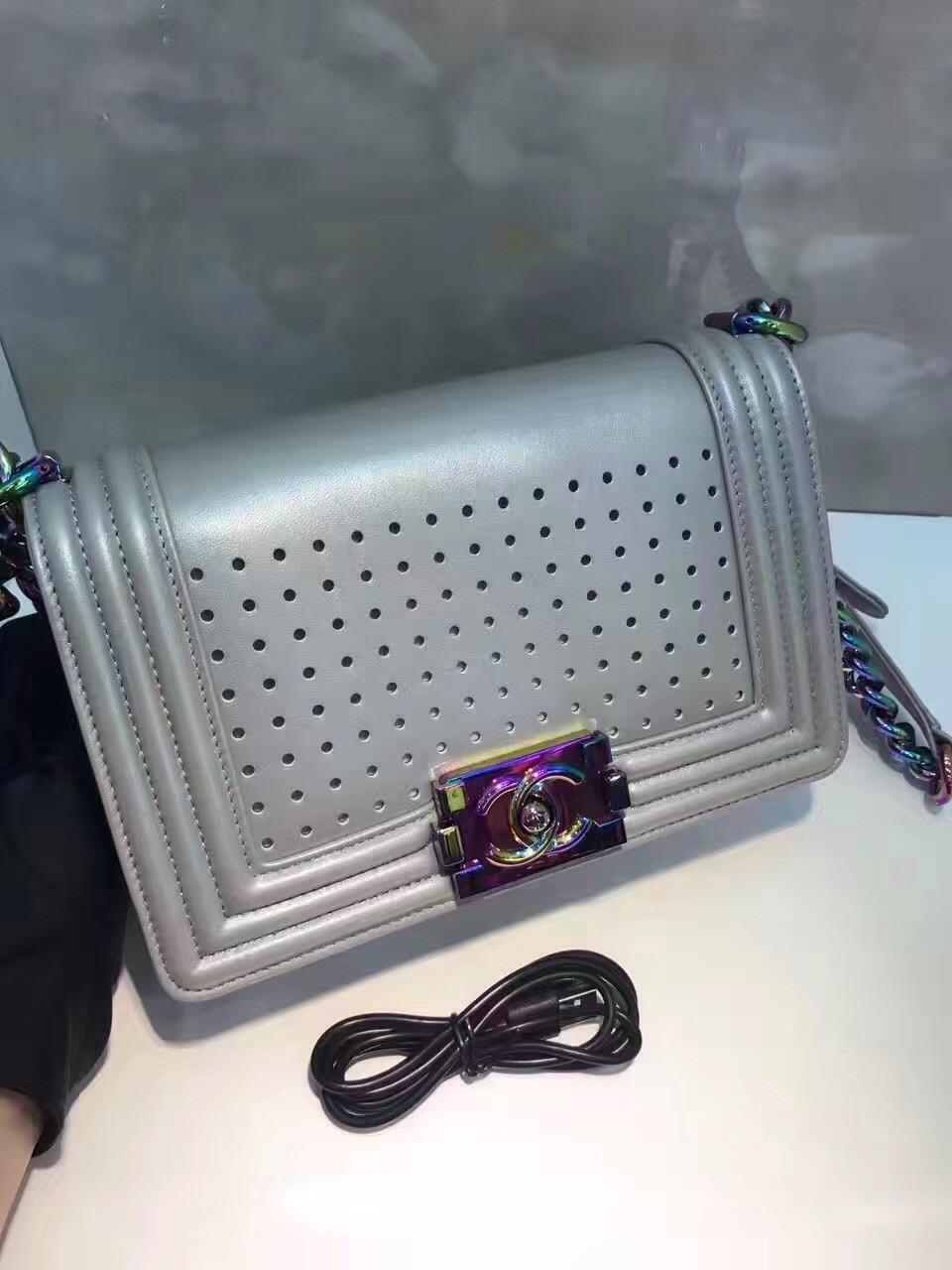 e22720eb223d Chanel Small Silver Boy Chanel Led 2.0 Flap Bag - Bella Vita Moda