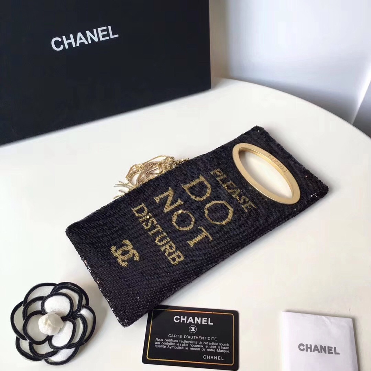 818e34a29e6e Chanel Please Do Not Disturb Clutch Bag - Bella Vita Moda