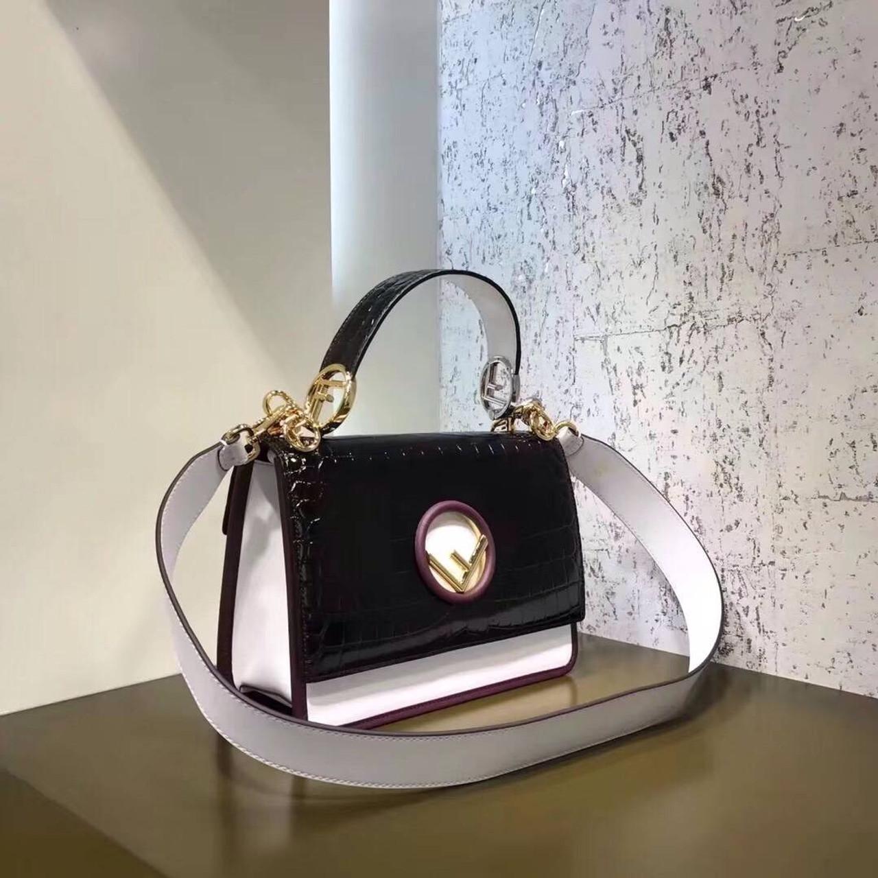 bfb13ce62ce5 Fendi KAN I F Exotic multicolor leather bag - Bella Vita Moda