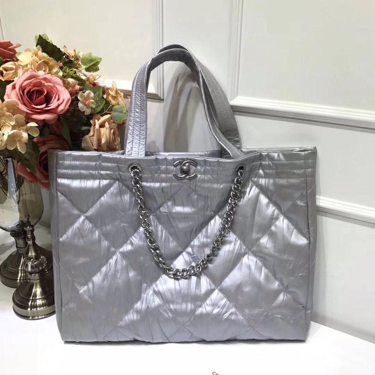 465045c0eb63 Chanel Hobo Handbag Silver F W 2017 - Bella Vita Moda