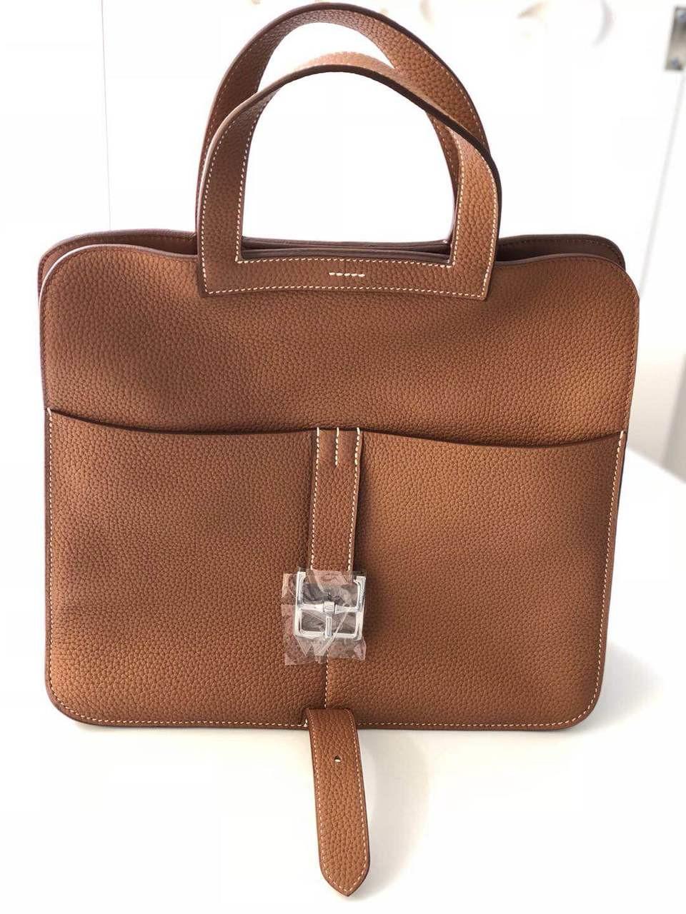 3087966d6af5 Hermes Gold 31 cm Halzan bag Togo Leather - Bella Vita Moda