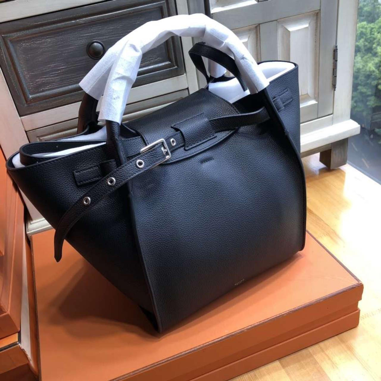 Celine MEDIUM BIG BAG IN SUPPLE GRAINED CALFSKIN BLACK - Bella Vita Moda ec7448e21d5df