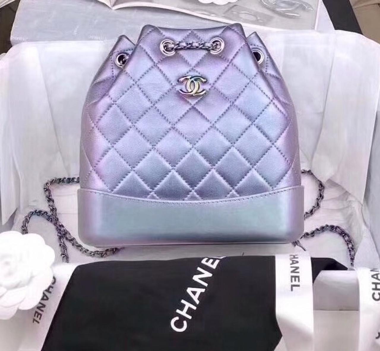 433c4438a9a4 CHANEL'S GABRIELLE BACKPACK Iridescent Purple - Bella Vita Moda