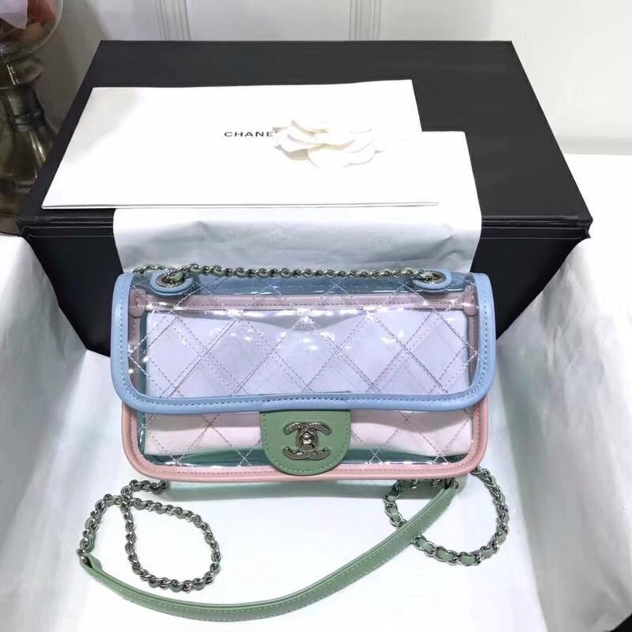 d6d0fabccc33 CHANEL 2018 Small PVC Flap Bag - Bella Vita Moda