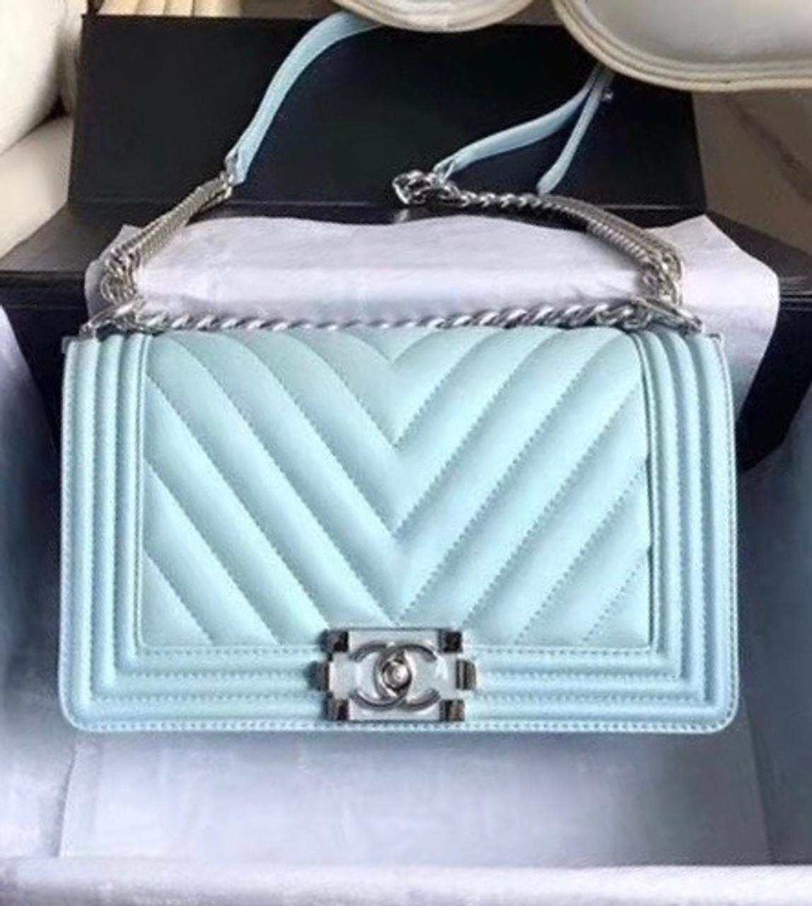 81ab9974c3d5af Chanel 2018 Small BOY CHANEL Handbag Turquoise - Bella Vita Moda
