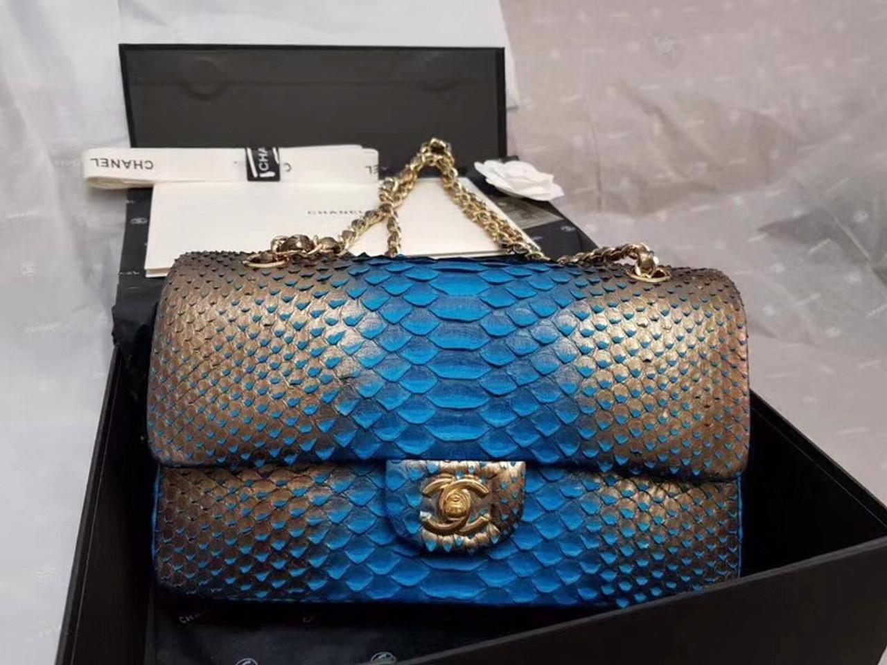 8513e1d077bc CHANEL 2.55 Python Handbag Dubai Limited Edition - Bella Vita Moda