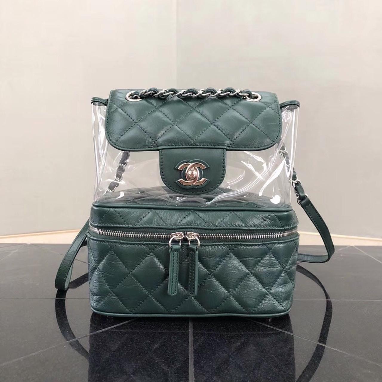 b1d2e9ab3116 Chanel PVC Flap Backpack Turquoise - Bella Vita Moda