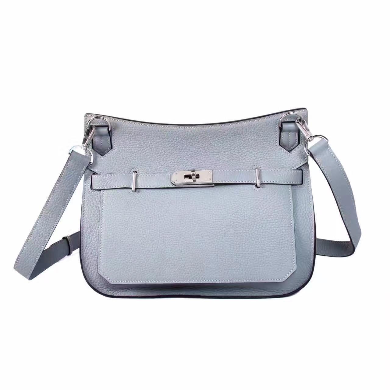 9c95b01d5d3f Hermes Blue Lin Jypsiere 28 bag - Bella Vita Moda