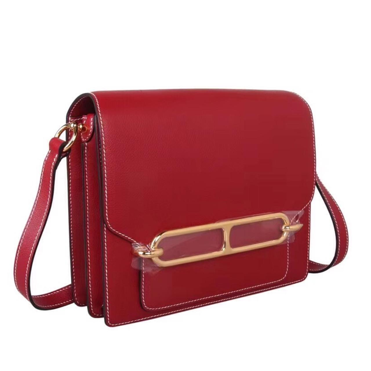830bf9df9c Hermes 23 Rouge Garance Sac Roulis Bag - Bella Vita Moda