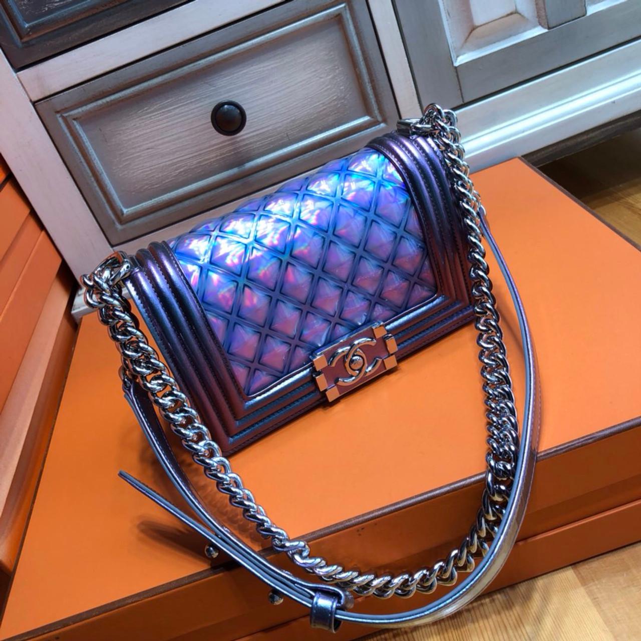 CHANL Small PVC BOY CHANEL Handbag - Bella Vita Moda 7a1bcbdd718bb