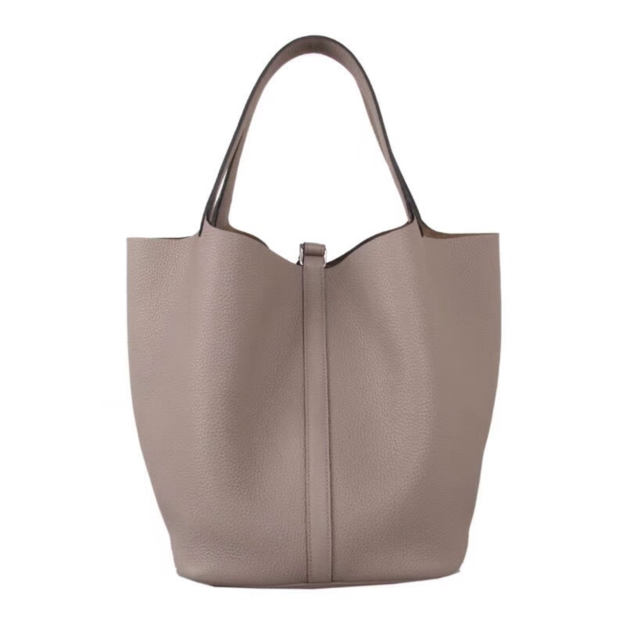 4fbfe706a4c9 Hermes M8 Gris Asphalte Picotin Lock GM Togo Leather Bag