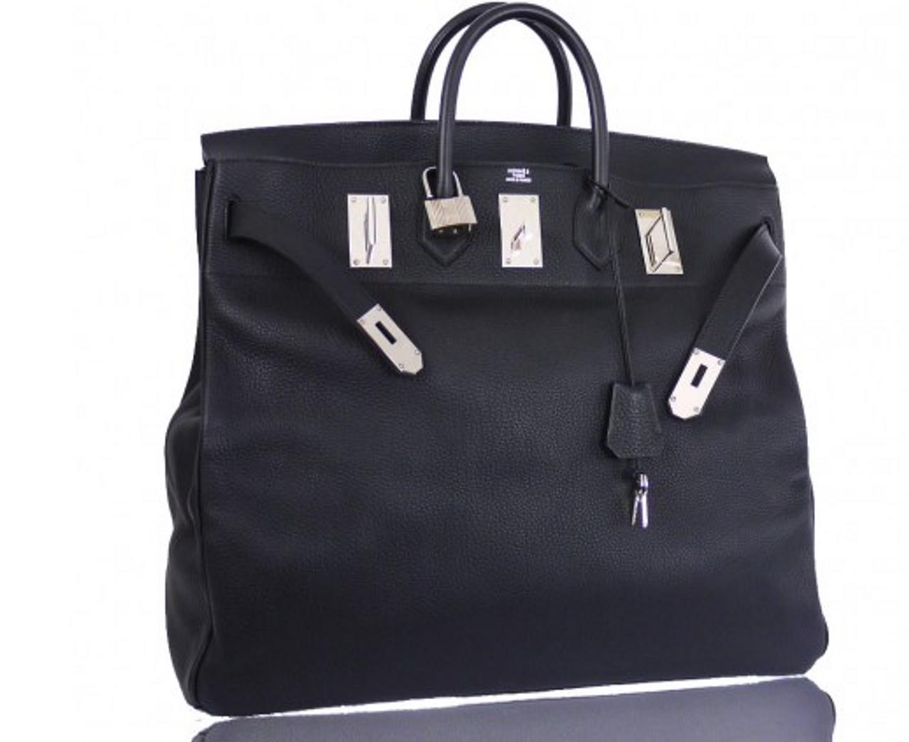 6f830077cc9c Hermes Black Taurillon Clemence 50cm Hac Birkin Bag 50 - Bella Vita Moda