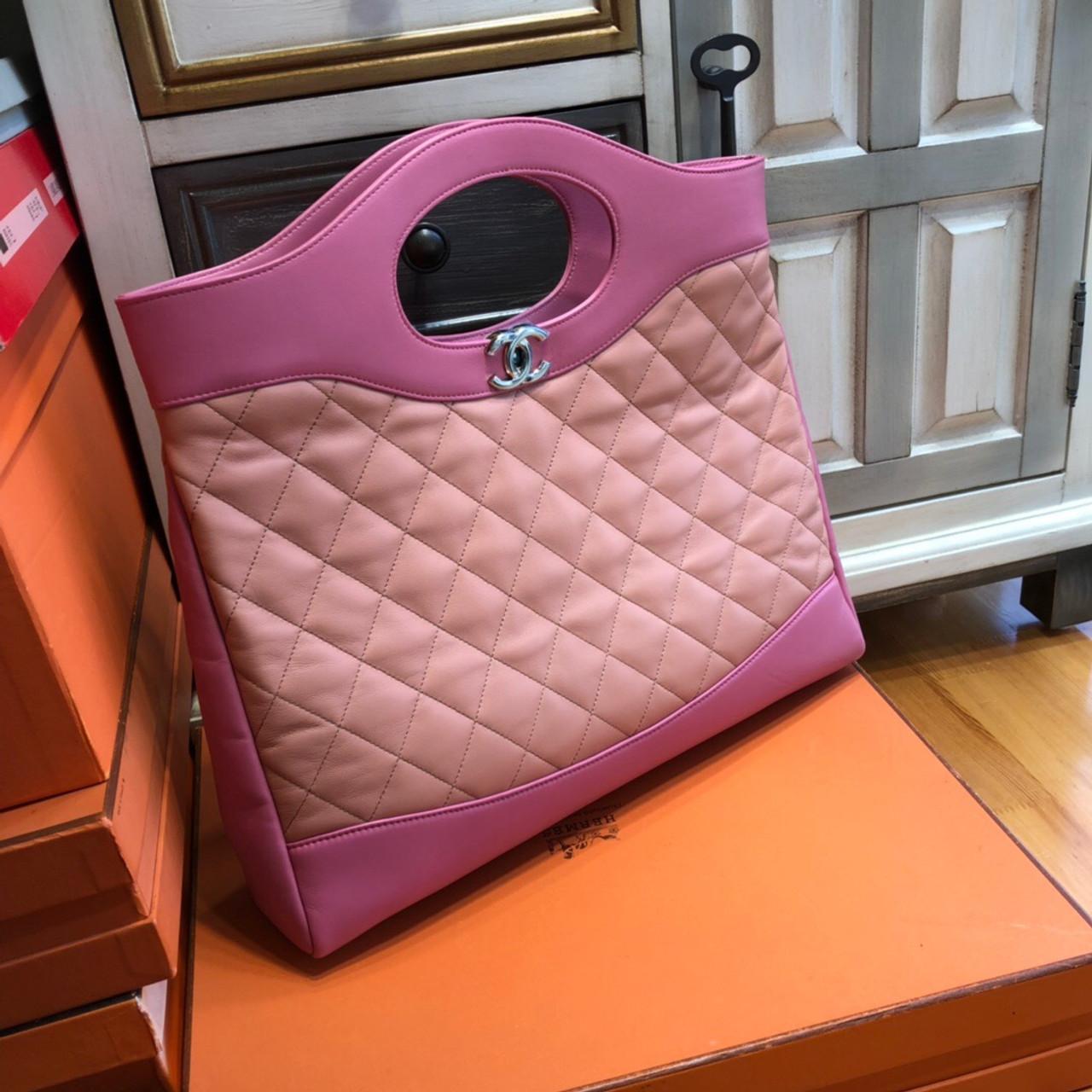 b1848422de20 CHANEL 31 Large Shopping Bag Pink - Bella Vita Moda