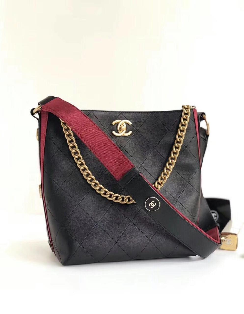 a07d6b7a4 Chanel Calfskin Botton Up Hobo Bag Black A57573 - Bella Vita Moda