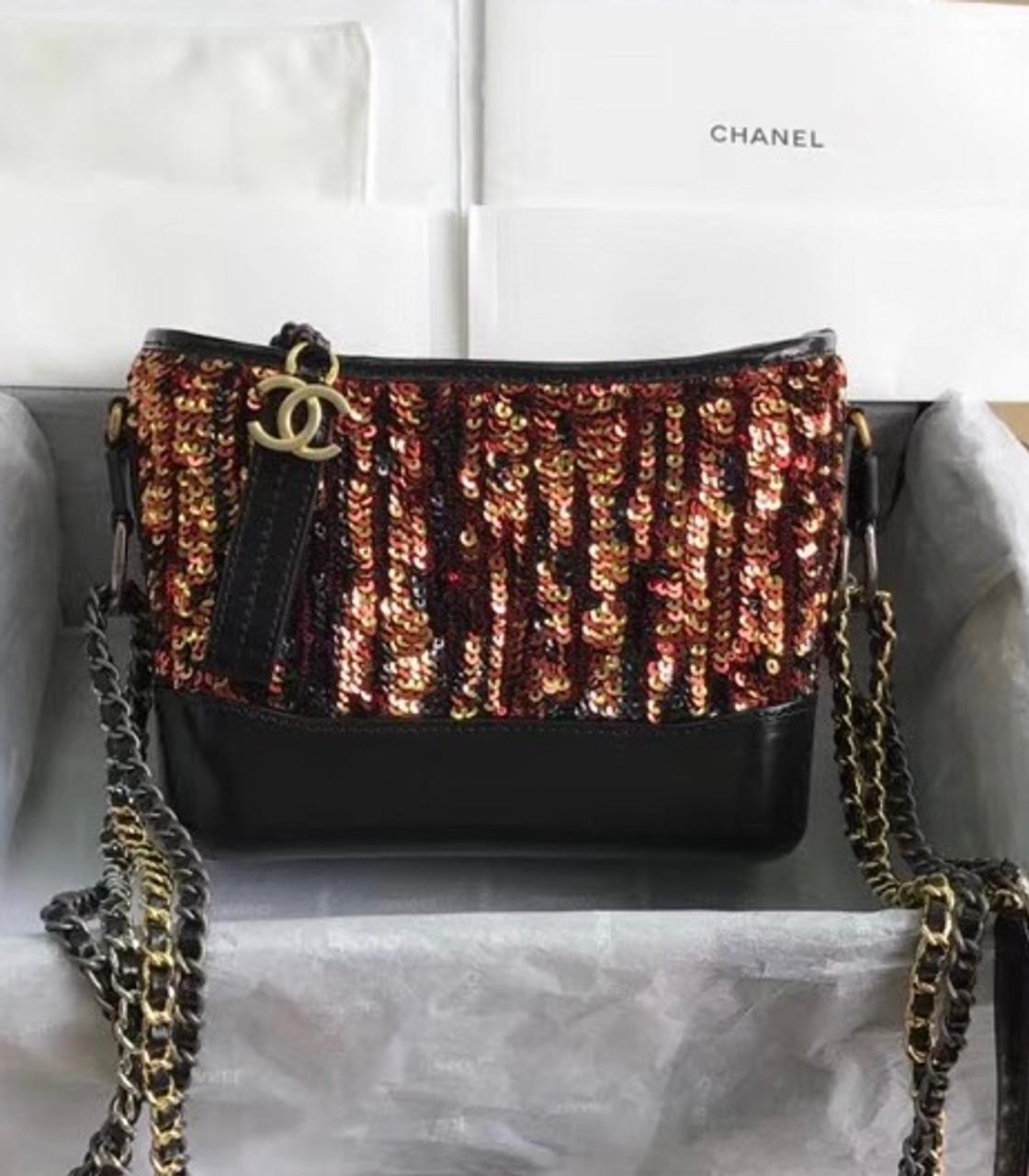 6e154ef5e9e265 Chanel's Gabrielle Small Orange Sequins Hobo Bag A91810 - Bella Vita ...