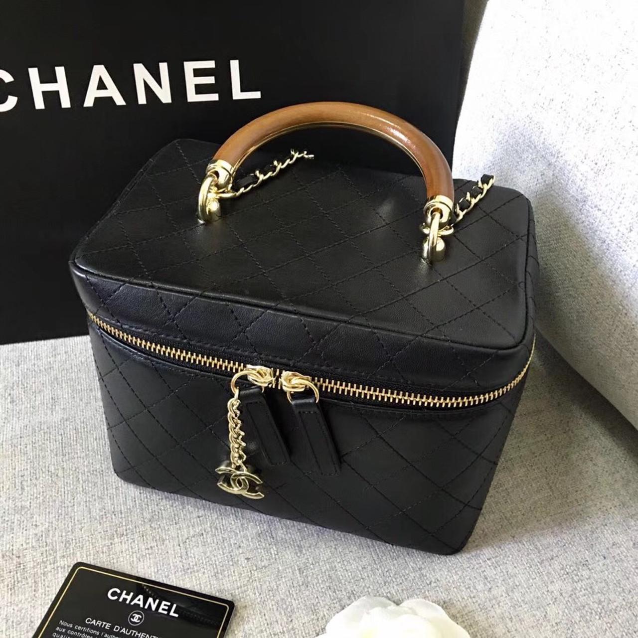 Chanel Vintage Vanity Case Black 2018 2019 Bella Vita Moda