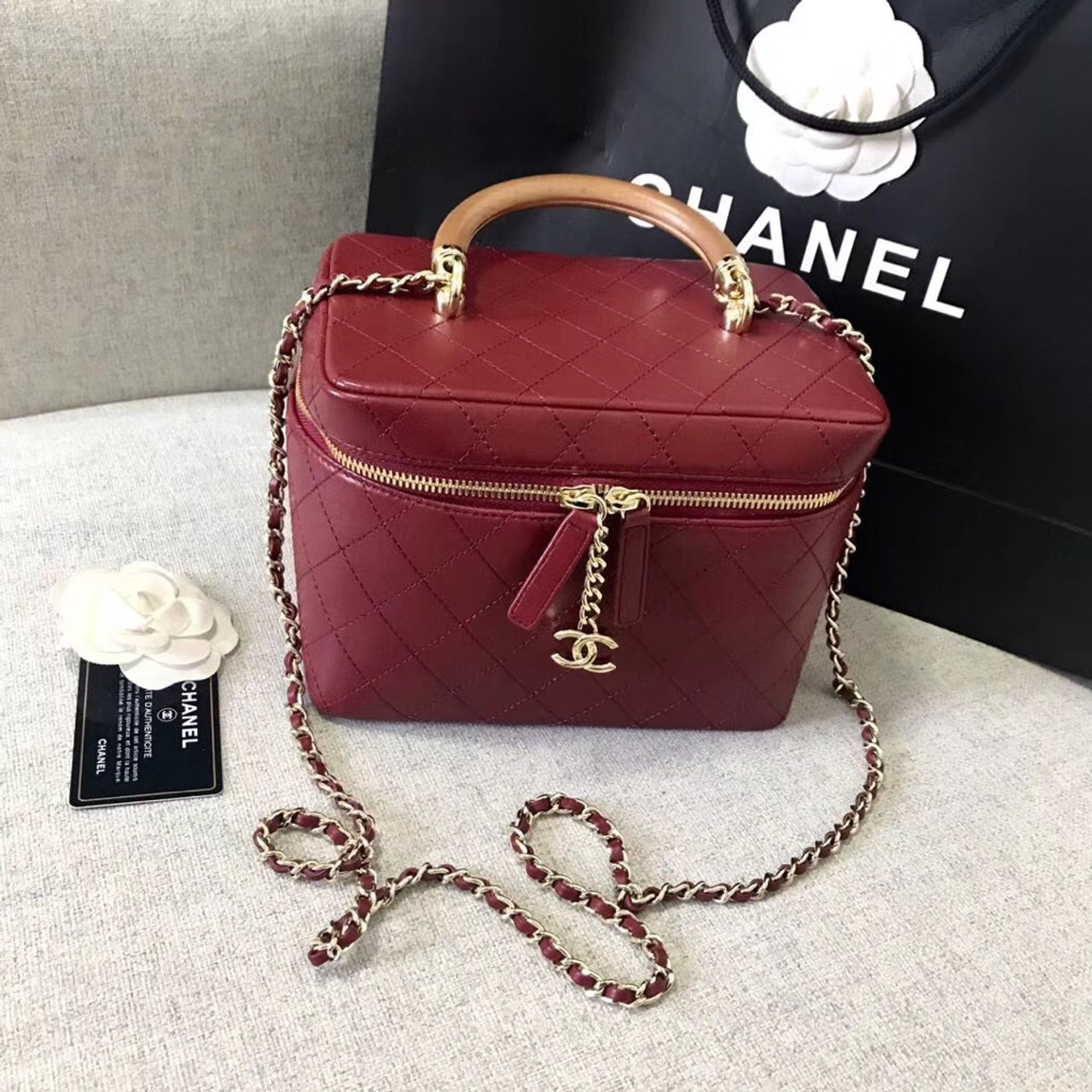 b707f2589222 Chanel Vintage Vanity Case Red 2018/2019 - Bella Vita Moda