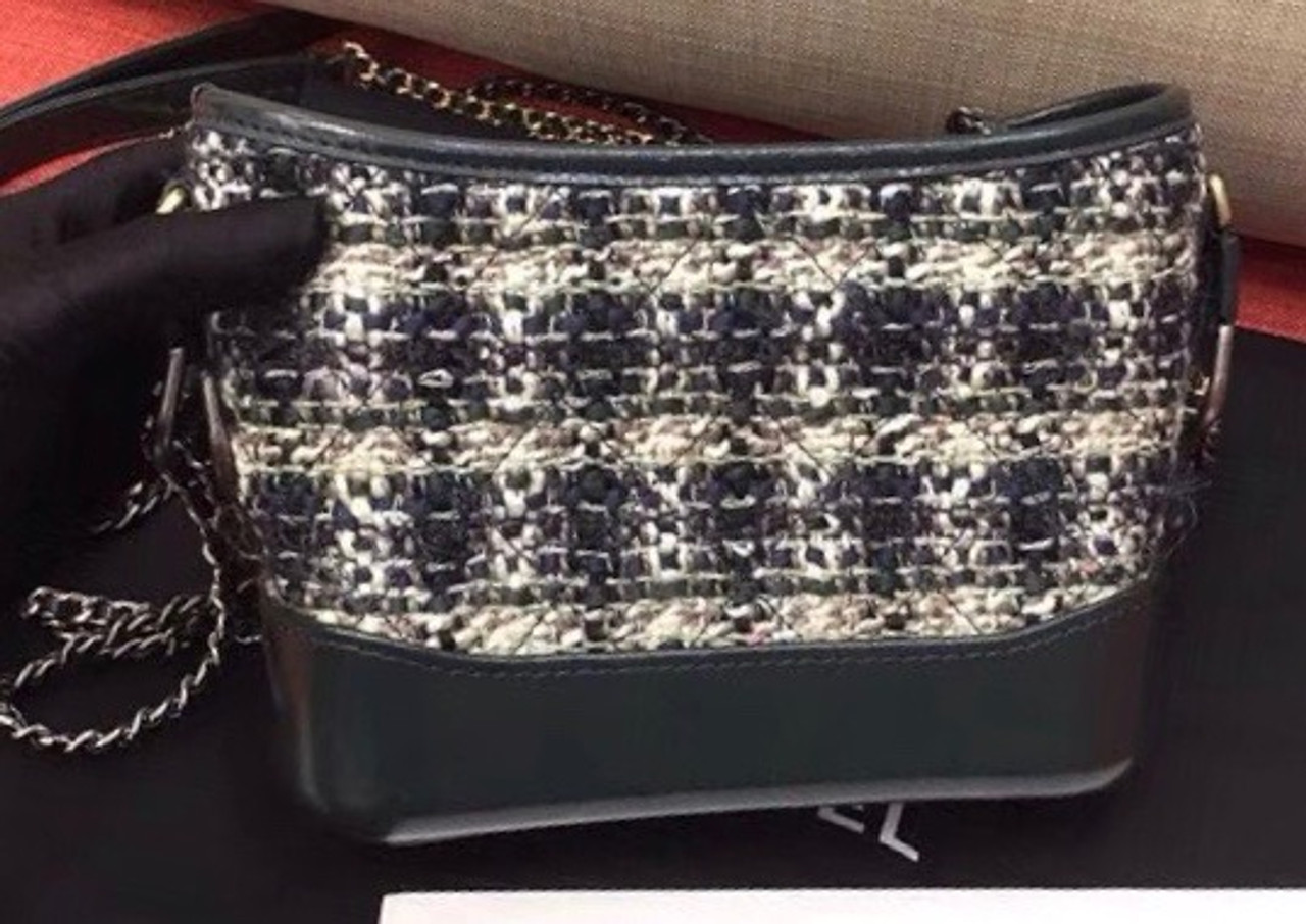 95292063fd6c CHANEL'S GABRIELLE Small Tweed Green Hobo Bag - Bella Vita Moda