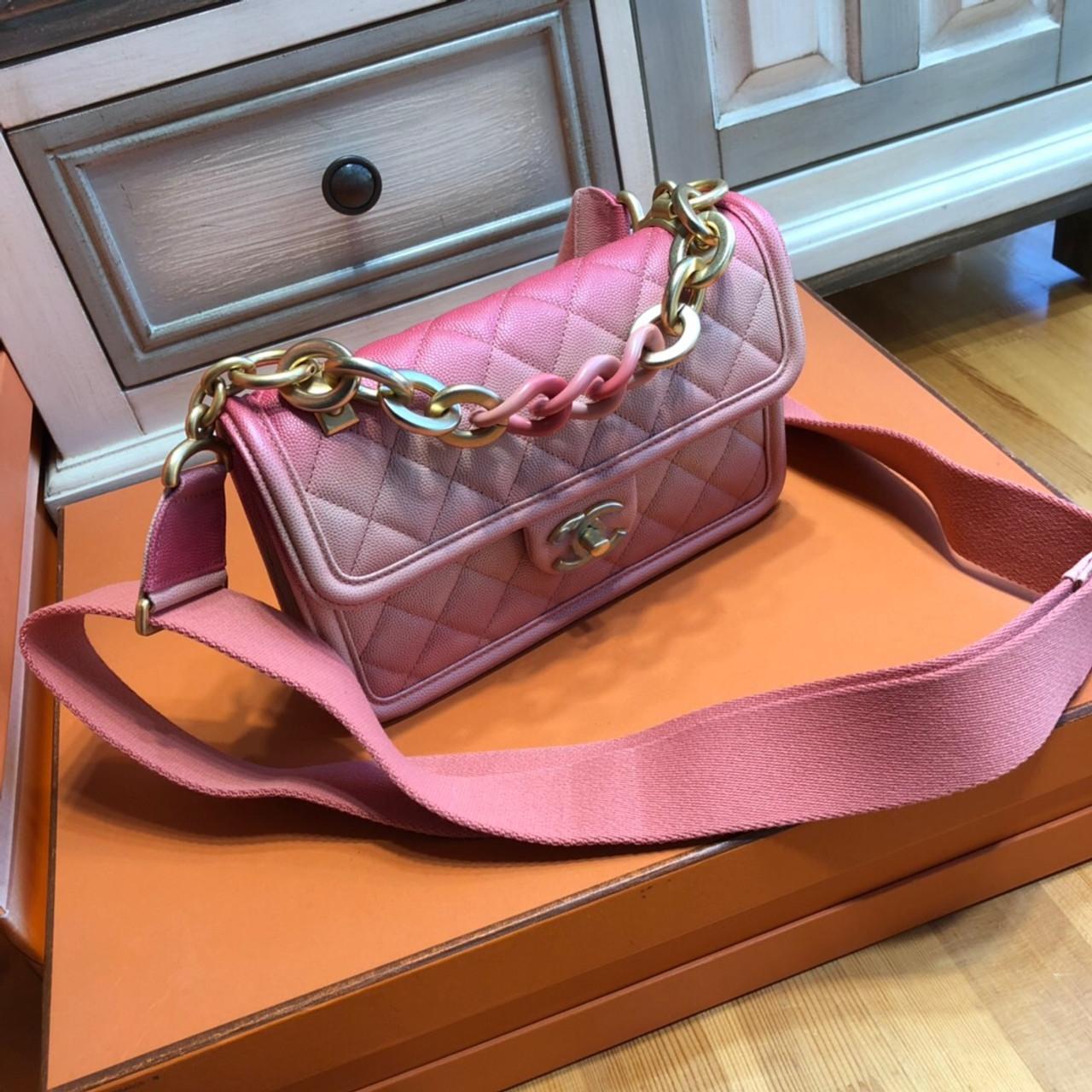 7b7d4dfdd1e6 Chanel Flap Bag Pink AS0061 - Bella Vita Moda