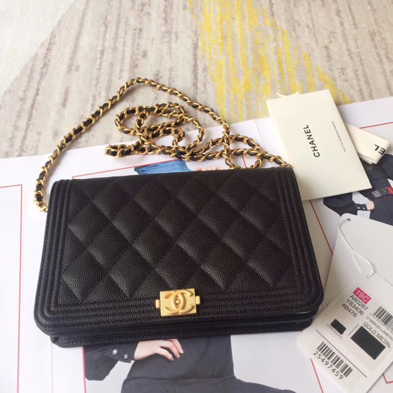 70ea4ed9a74086 CHANEL BOY CHANEL Wallet On Chain BLACK - Bella Vita Moda