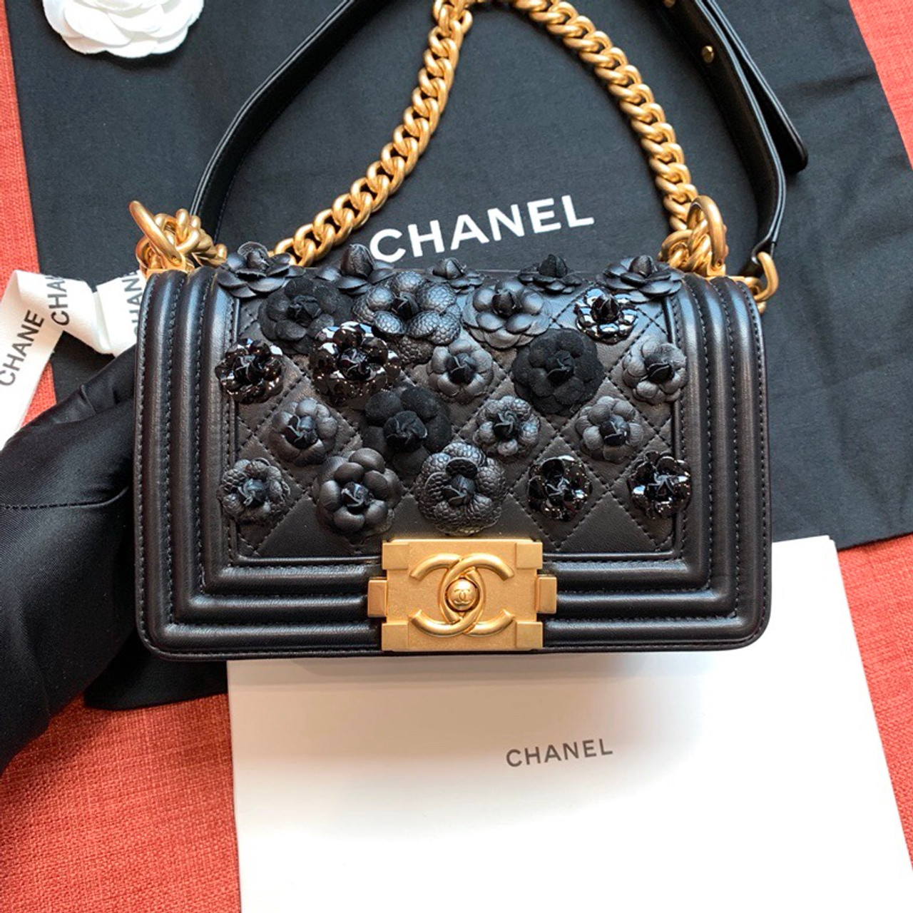 1b8525895975 Chanel Limited Edition Embroidered Small BOY CHANEL Handbag 2019 ...