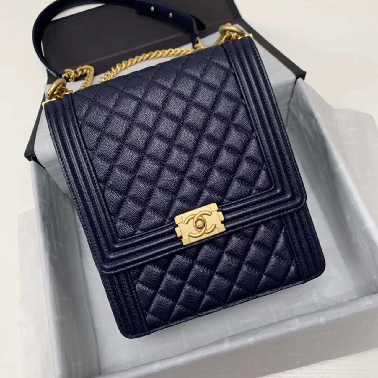 bf1af9451992 Chanel Large BOY CHANEL Handbag AS0132 Black - Bella Vita Moda