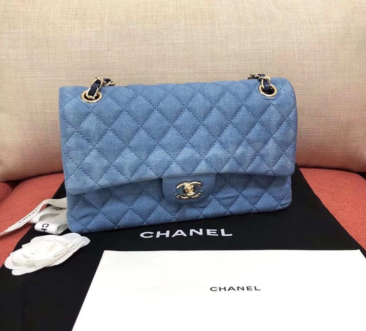 f6bc5995712e Chanel classic denim handbag - Bella Vita Moda