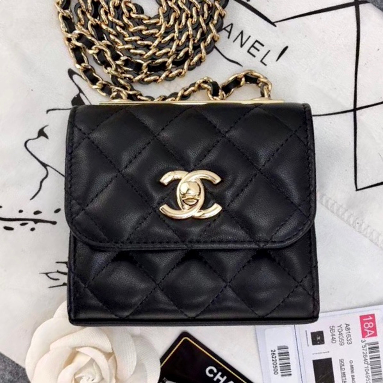 502903a569a8 Chanel Lambskin Chain Elegant Style Shoulder Bags[ 2019 Cruise ] Black
