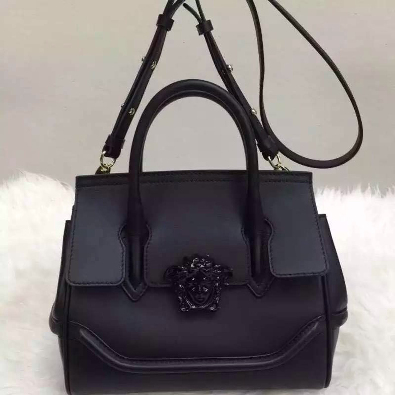 55e8b8116d  Final Sale  Versace Palazzo Empire Leather Bag Medium