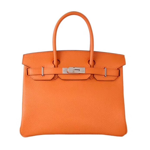 2e7cad295af Hermes Noisette Haut A Courroies Bag 40cm Togo Palladium Hardware