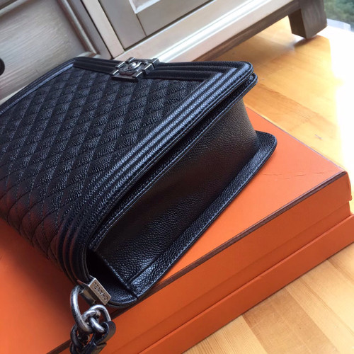 Chanel Black Quilted Caviar Large Boy Bag - Bella Vita Moda d64cdebee9c4d