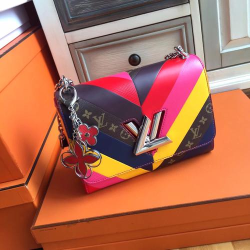 Louis Vuitton  Multicolor and monogram Reverse Twist Bag  Limited Edition