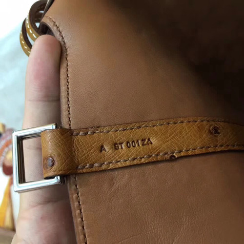 e19a256f362 Hermes Tan Picotin Lock 18 Ostrich Leather Bag - Bella Vita Moda
