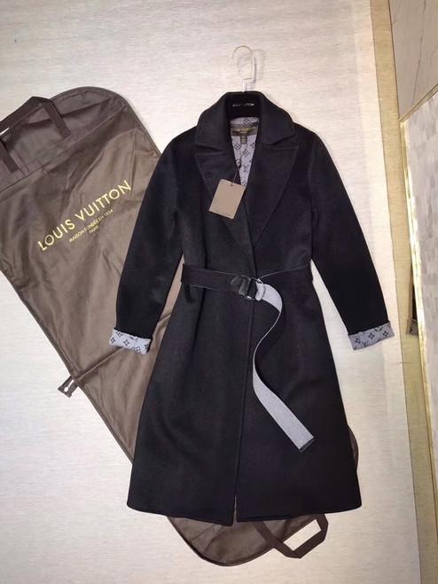 Louis Vuitton DOUBLE CASHGORA WRAP COAT WITH MONOGRAM INSIDE FRANCE SIZE 38