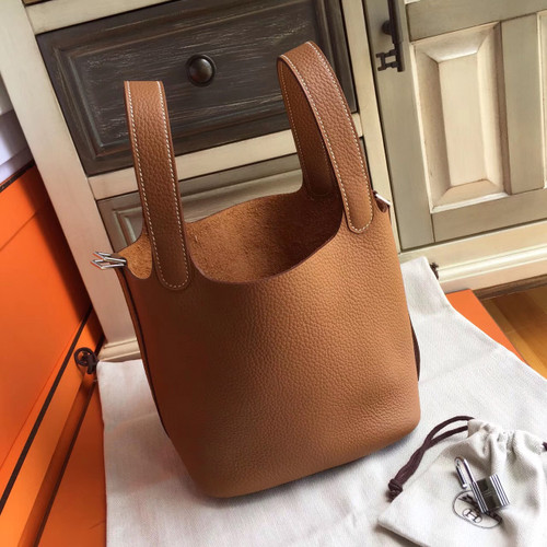5a73e54bc392 Hermes Gold Picotin Lock 18 Togo Leather Bag - Bella Vita Moda