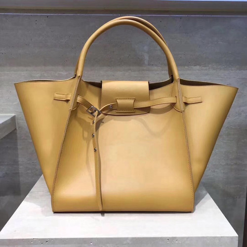 f68a4ce99f Celine MEDIUM BIG BAG WITH LONG STRAP IN SUPPLE GRAINED CALFSKIN HONEY ...