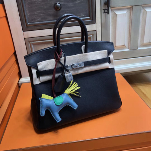 Hermes Black Birkin 25cm Swift Palladium Hardware