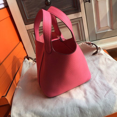 9aed1eeba6c Hermes 8W Rose Azalee Picotin Lock 18 Togo Leather Bag - Bella Vita Moda