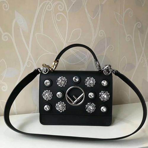 Fendi  crystal embellished Kan I F handbag