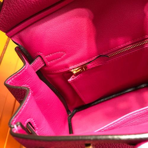 ... Hermes L3 Rose pourpre Birkin 25cm Togo Gold Hardware ... 7798a07047204