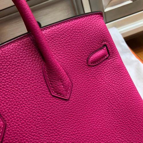 ... Hermes L3 Rose pourpre Birkin 25cm Togo Gold Hardware 740231802d179
