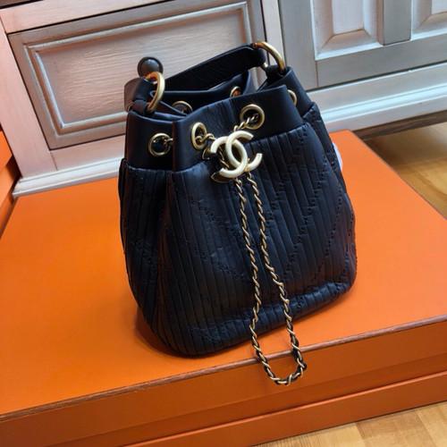 Chanel Black Small Drawstring bag 2018