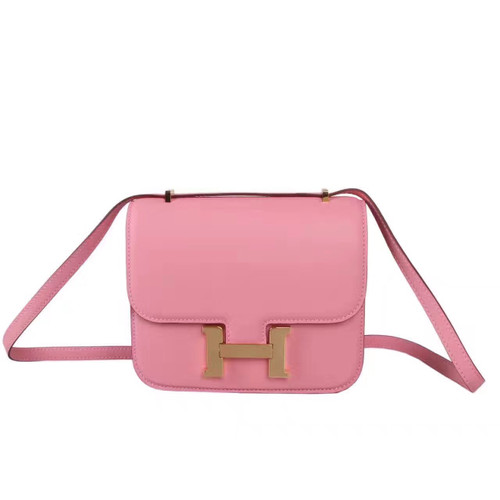 93bab1b797 Hermes P1 Sakura Pink Constance Togo leather 18cm Gold Hardware ...