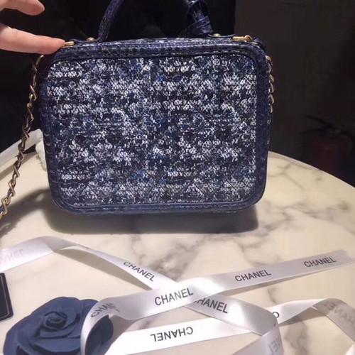 a29a1a21f7908f Chanel Medium Tweed Vanity Case SS 2018 Pre-Collection - Bella Vita Moda
