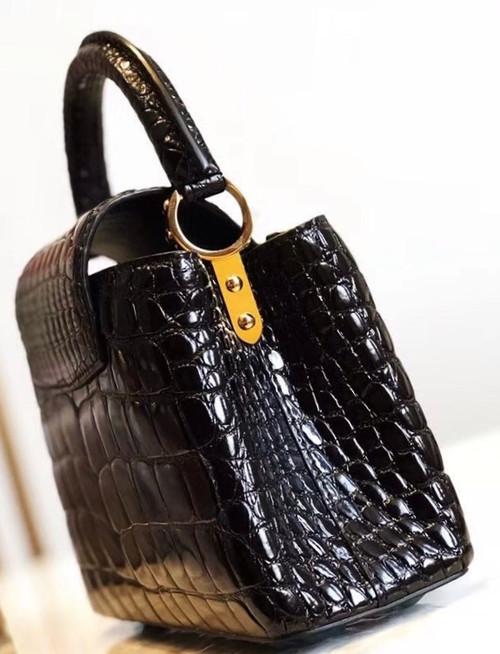 eccb1a84acf3 Louis Vuitton CAPUCINES MINI Crocodilien Brillant N93163 - Bella ...