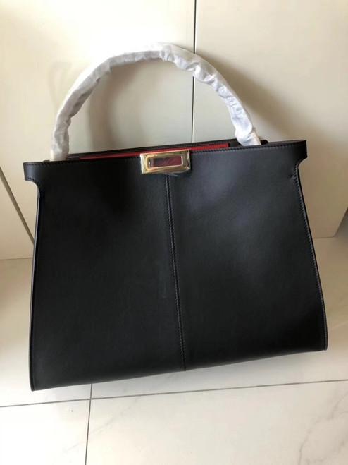 Fendi PEEKABOO X-LITE REGULAR Black leather bag