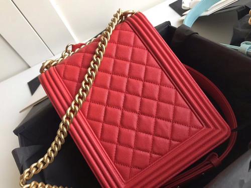 Chanel 2019 BOY CHANEL Handbag AS0130 Red